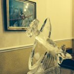 Spitfire aeroplane RAF Cranwell - Ice Luge - Ice Sculpture - Ice Luge for Vodka | Ice Agency