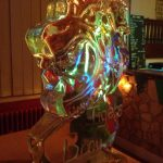 Tiger head vodka ice luge for event in Brighton, Sussex | Ice Agency