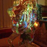 Tiger Head Ice Sculpture Vodka Luge in Brighton
