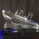 Titanic Ice Sculpture Vodka Ice Luge for Titanic Theme Party