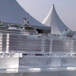 Xl4m Ice Sculpture set up for the launch of a cruise liner for Celebrity Cruises | Ice Agency