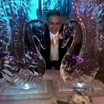 Twin Swans Ice Sculpture Grosvenor House Hotel London | Ice Agency