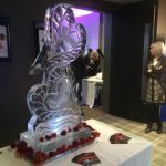 Two Hearts Event in Sussex - Ice Sculpture - Ice Carving | Ice Agency