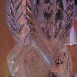 Heart Ice Sculpture for Ukrainian Wedding - Ice Luge - Luge for Vodka| Ice Agency