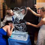 Hearts Double luge Ice Sculpture Luge | Ice Agency