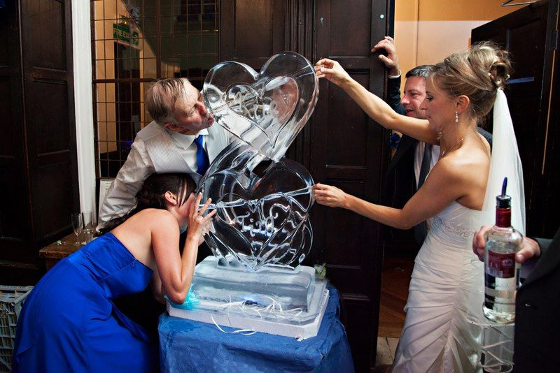 Hearts Double Luge Ice Sculpture Agency
