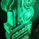 18 Luge with Name - Vodka Luge - 18 Party Luge with name - Party Ice Luge - Ice Carving Sculpture | Ice Agency