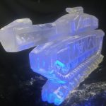 Challenger Tank Ice Carving Sculpture - Ice Luge for Vodka | Ice Agency