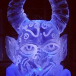 Devil Head Luge for Birthday - Luge for Vodka - Ice Carving Sculpture | Ice Agency