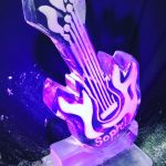 Huge Electric Guitar Luge - Name on Luge - Ice Luge for Vodka - Ice Carving Sculpture | Ice Agency