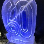60th Birthday Luge - Luge for Vodka - Name on Ice Sculpture - Ice Carving Sculpture | Ice Agency