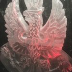 Kings Royal Hussars Ice Sculpture - Double Luge for Vodka | Ice Agency