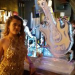 Electric Guitar Ice Sculpture Vodka Ice Luge