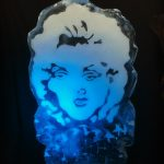 Marilyn Monroe Face Ice Sculpture Vodka Ice Luge