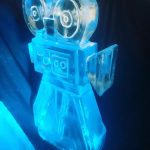 Movie Camera Luge - Party Ice Luge - Ice Carving Sculpture | Ice Agency