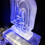 Small Number 40 Ice Sculpture Vodka Ice Luge Ice Carving