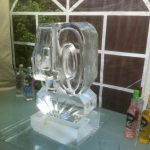 40th Birthday Party Ice Carving Luge - Luge for Vodka - Ice Carving Sculpture | Ice Agency