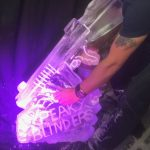 Peaky Blinders Tommy Gun Luge - Luge for Vodka - Ice Carving Sculpture | Ice Agency