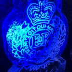 Royal Engineers Crest Ice Sculpture - Luge for Vodka | Ice Agency