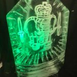 Royal Marines Elephant Crest Ice Sculpture - Luge for Vodka | Ice Agency