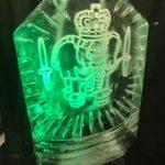 Royal Marines Ice Sculpture Vodka Luge in Dorset