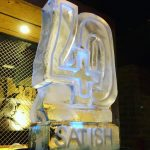 Number 40 Vodka Ice Luge for 40th Birthday party at Oxford party