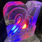 21 number vodka ice luge for 21st birthday
