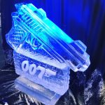 007 Ice Sculpture Vodka Ice Luge James Bond themed party ice carving in London
