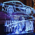 50th Birthday Ice Sculpture Vodka Ice Luge of Aston Martin Car