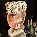 Fish 40th Birthday Ice Sculpture Vodka Ice Luge for Ali Hamidi Monster Carp and Liverpool FC Ice Luge