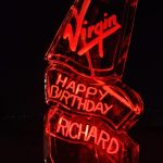 Virgin Richard Branson Ice Sculpture Vodka Ice Luge for Virgin Event