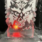 Wolf Head Vodka Ice Luge Ice Sculpture