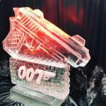 007 James Bond themed gun Ice Sculpture Vodka Ice Luge
