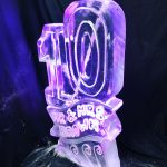 10th Birthday or Anniversary Ice Sculpture Vodka Ice Luge