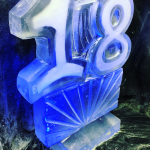 18 Ice Sculpture Vodka Ice Luge for 18th Birthday Party