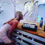 21 Ice Sculpture Vodka Ice Luge In Use