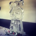 25th Birthday Ice Sculpture Vodka Ice Luge