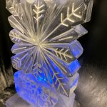 Christmas Birthday Snowflake Vodka Ice Luge Ice Sculpture for 30th Birthday