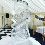50th Anniversary Ice Sculpture Vodka Ice Luge Portsmouth
