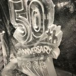 50th Anniversary Ice Sculpture Vodka Ice Luge in Hampshire Party