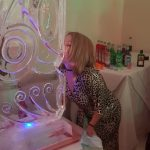 60 Ice Sculpture Vodka Ice Luge In Use at Sutton Party