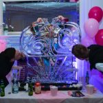 60th Birthday Ice Sculpture Vodka Ice Luge