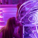 Drinking Ice Sculpture Vodka Ice Luge For Essex Birthday Party