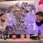 Number 60 Ice Sculpture Vodka Ice Luge