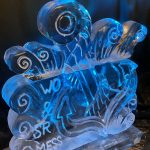 Anchor Naval theme Ice Sculpture Vodka Luge for Royal Navy in Portsmouth Naval Base