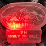 Apres Ski Themed Vodka Ice Luge Ice Sculpture For Royal Automobile Club Christmas Party