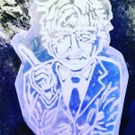 Boris Johnson face ice sculpture for Good Morning Britain and Piers Morgan