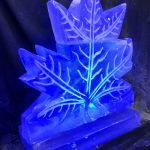 Maple Leaf Ice Sculpture Vodka Ice Luge for Canadian Party