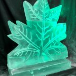 Canadian Maple Leaf Ice Sculpture Vodka Ice Luge
