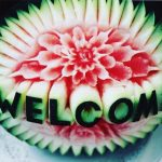 Carved watermelon fruit carving for party